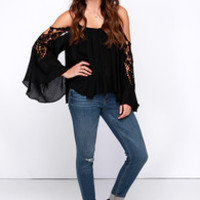 A Brand New Sway Black Lace Top
