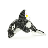 Orca Whale Beaded Sculpture