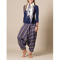 Lapis Indian Harem Yoga Pants
