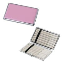 Candi Pink Bubble Gum Leather Double Sided Cigarette Case Hold 14 of Your Fav