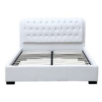 Fine Mod Bianca Modern Bed with Tufted Queen Headboard In Black