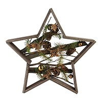 """15.25"""" Mixed Branches in Star Wood Frame Table or Wall Decoration"""