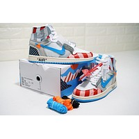 Parra X Off-white X Air Jordan 1 Custom Aa3834-108 | Best Online Sale