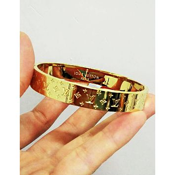 LV Louis Vuitton Fashionable High End Lovers Stainless Steel Bracelet