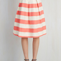 Whole Yacht of Love Skirt in Pink