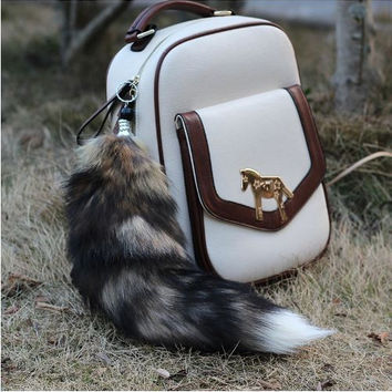 Fox Tail Keychains 100% Natural