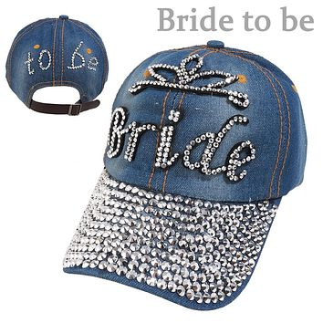 """Bride To Be"" Denim Cap"