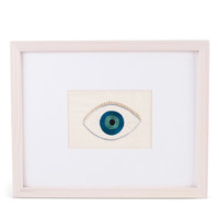 Evil Eye Embroidered Framed Art