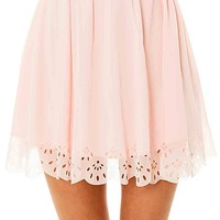 MKL Collective Skirt Tea For Two Powder Rose Pink