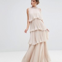 True Decadence High Neck Tiered Maxi Dress at asos.com