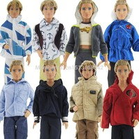 3 Sets Fashion Handmade Casual Men Outfits Daily Wear Clothes For Barbie Friend Ken Doll Randomly Pick FREE SHIPPING