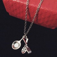Culinary Foodie Chef Necklace Sauté Pan Chef Jewelry Kitchen Cooking Charm Pendant Cook Chef Gift