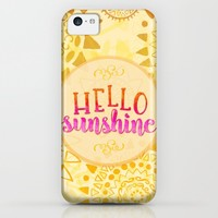 Hello Sunshine iPhone & iPod Case by Noonday Design | Society6