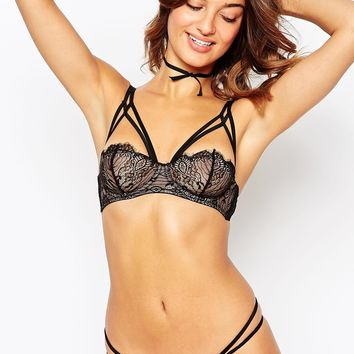 ASOS Gabrielle Caged Lace Underwire Bra