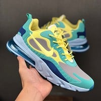 Nike Air Max 270 React Hyper Jade KPU Drop Plastic Upper Men Running Shoes - Best Deal Online