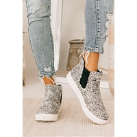 Full Of Sass Spotted High Top Sneakers (Beige)