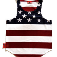 "USA ""Home of the Brave"" Flag Tank Top"