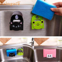 Carton Dish Cloth Sponge Holder With Suction Cup Home Decor Dinning Room