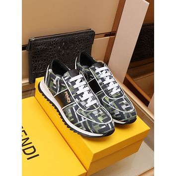 FENDI 2021 Men Fashion Boots fashionable Casual leather Breathable Sneakers Running Shoes10150em