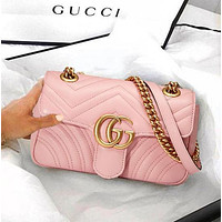 GUCCI Women Shopping Leather Tote Handbag Shoulder Bag Purse Wallet Set bag