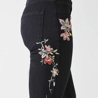 BDG Twig High-Rise Embroidered Skinny Jean – Black | Urban Outfitters