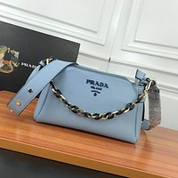 prada women leather shoulder bags satchel tote bag handbag shopping leather tote crossbody 274
