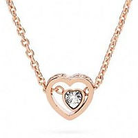 pave stone heart necklace