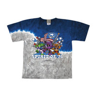 Grateful Dead Men's  Spirit Of '76 Tie Dye T-shirt Multi