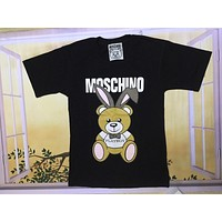 Moschino Black Fold Of Ear Bear Fashion Women T Shirt
