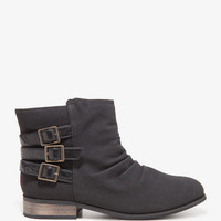 Ruched Faux Suede Booties | FOREVER 21 - 2027706270