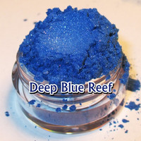Deep Blue Shimmer Diamond and Pink Sparkle Natural Mineral Eyeshadow Mica Pigment 5 Grams
