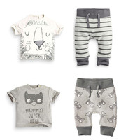 Spring infant clothes baby clothing sets boy Cotton little monsters and the lions short sleeve 2pcs baby boy clothes