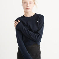 Womens Icon Crew Sweater | Womens Tops | Abercrombie.com