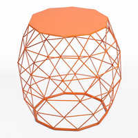 Furnistar Home Garden Accents Wire Round Iron Metal Stool Side Table Plant Stand CH0149
