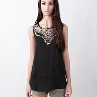ETHNIC TOP WITH FRONT COIN TRIM - NEW PRODUCTS - WOMAN -  Turkey