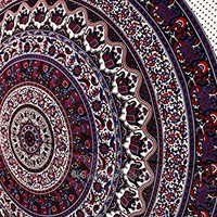 Hippie Boho Wall Tapestries, Big Elephant Mandala Tapestry Wall Hanging, Indian Bedspread Bohemian Room Décor, Dorm Bedding Tapestry Art