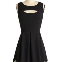 ModCloth Short Length Sleeveless A-line Lasting Impression Dress