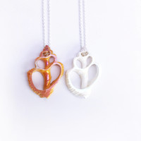 Sterling Silver Aura Seashell Best Friend Necklaces