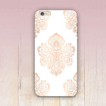 Rose Gold Floral Phone Case  - iPhone 6 Case - iPhone 5 Case - iPhone 4 Case - Samsung S4 Case - iPhone 5C - Tough Case - Matte Case