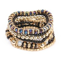 HDB1566 - BEADED STRETCH BRACELET SET