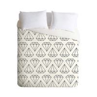A Girl's Best Friend Duvet Cover