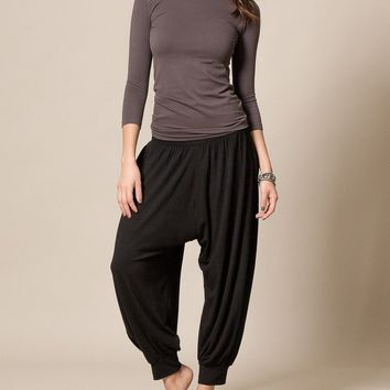 Flowy Harem Pants - Black
