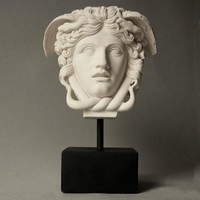 Medusa The Gorgon Head Bust on Base 11H