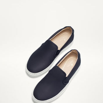 BLUE NUBUCK TRAINERS - Bags and