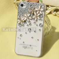 crystal iphone 4s cases,flowers iphone 5 case, handmade iphone 4 cases iphone cover cases