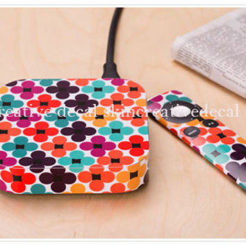 flower Apple decal apple TV skin decal stickers protector cover skins Accessories decal skin cover stickers