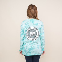 Mint Acid Wash Floral Medallion Tee