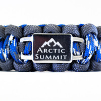 Custom Paracord Bracelet - Paracord Survival Bracelet with Personalized Engraved Stainless Steel Shoelace Charm