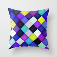 Quilted with Halftone Throw Pillow by House of Jennifer