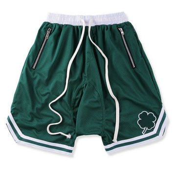 Lucky Green Basketball Shorts w/ Extended Drawsting and RIRI ZIPS